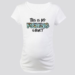 This Is My Fishing Shirt Maternity T-Shirt