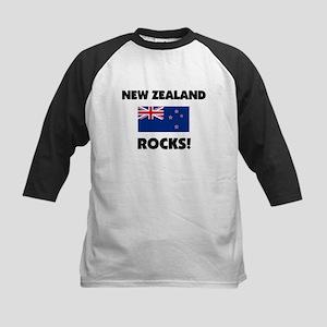 New Zealand Rocks Kids Baseball Jersey