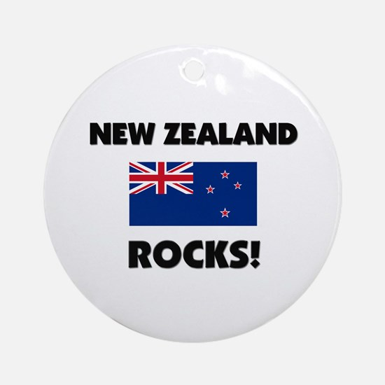 New Zealand Rocks Ornament (Round)