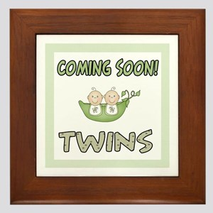 Coming Soon Twins Framed Tile