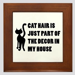 Funny Cat Lover Gift Framed Tile