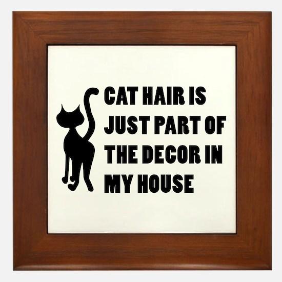 Funny Cat Lover Gift Framed Tile