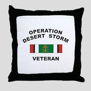 Kuwait Veteran 2 Throw Pillow