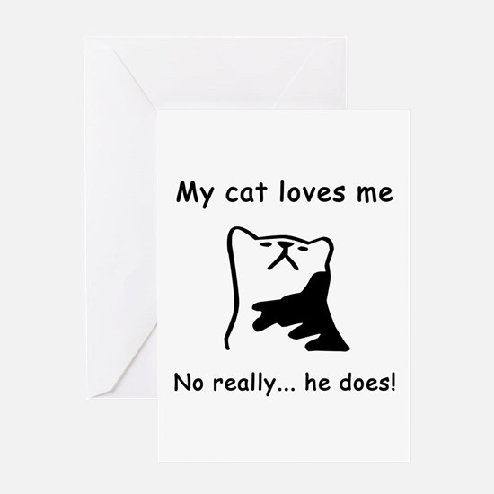 Sarcastic Cat Lover Gift Greeting Card