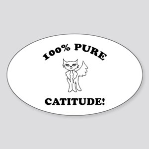 Cat Humor Gifts Oval Sticker