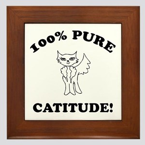 Cat Humor Gifts Framed Tile