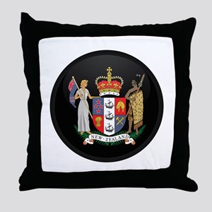 Coat of Arms of New Zealand Throw Pillow