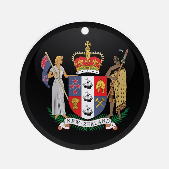 Coat of Arms of New Zealand Ornament (Round)