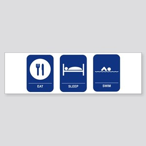 Eat, Sleep, Swim Bumper Sticker