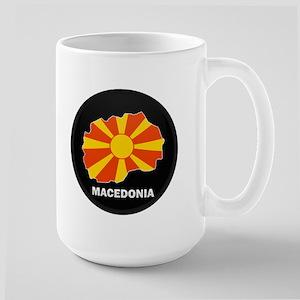 Flag Map of Macedonia Large Mug