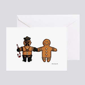 gay gingerbread couple Greeting Cards