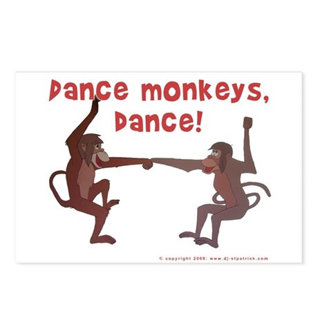 Dance Monkeys, Dance! Postcards (Package of 8)