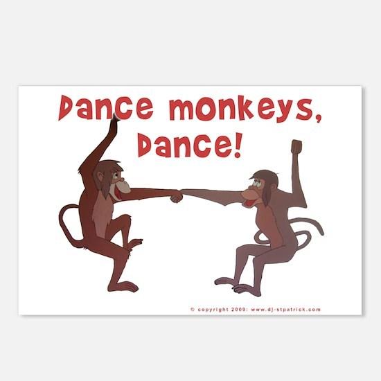 Dance Monkeys, Dance! Postcards (Package of 8)
