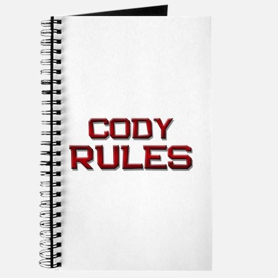 cody rules Journal