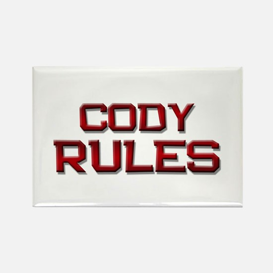cody rules Rectangle Magnet