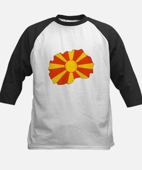 Macedonia Flag Map Kids Baseball Jersey