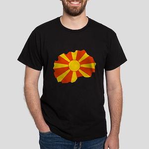 Macedonia Flag Map Dark T-Shirt