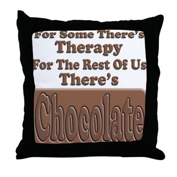 Chocolate Therapy Throw Pillow