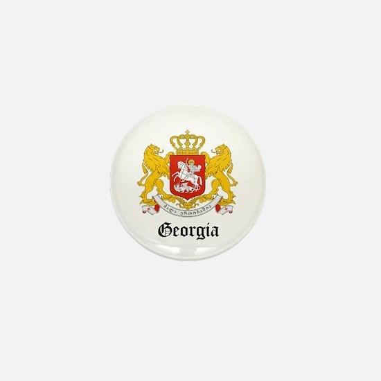 Georgian Coat of Arms Seal Mini Button
