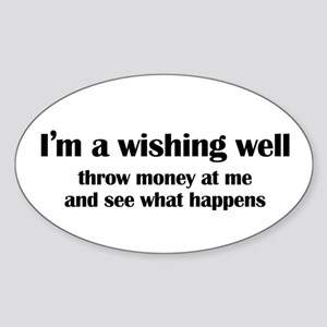 I'm a Wishing Well Oval Sticker