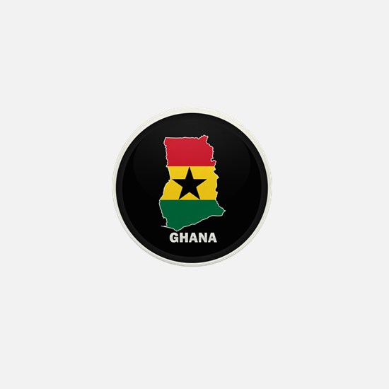Flag Map of ghana Mini Button