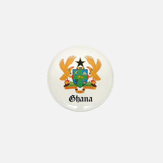 Ghanaian Coat of Arms Seal Mini Button