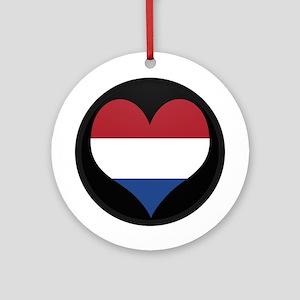 I love NETHERLANDS Flag Ornament (Round)