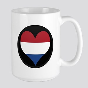 I love NETHERLANDS Flag Large Mug