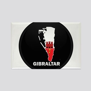 Flag Map of Gibraltar Rectangle Magnet