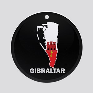Flag Map of Gibraltar Ornament (Round)