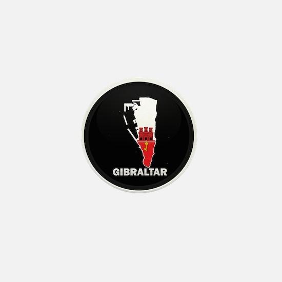 Flag Map of Gibraltar Mini Button