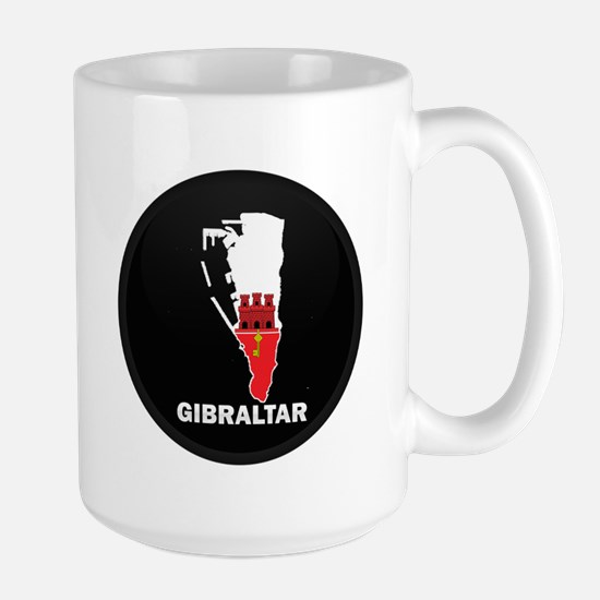 Flag Map of Gibraltar Large Mug