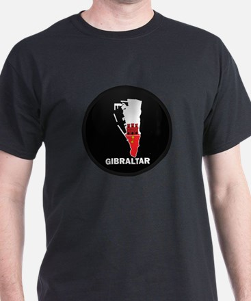 Flag Map of Gibraltar T-Shirt