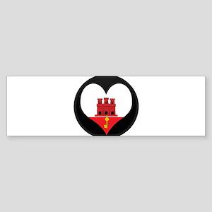 I love Gibraltar Flag Bumper Sticker