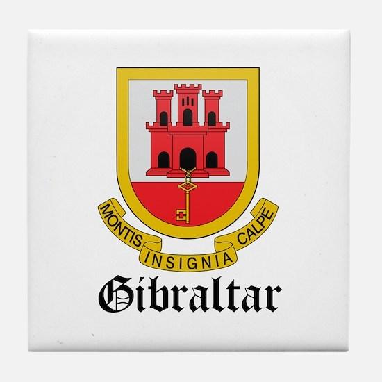 Gibraltarian Coat of Arms Sea Tile Coaster