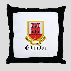 Gibraltarian Coat of Arms Sea Throw Pillow