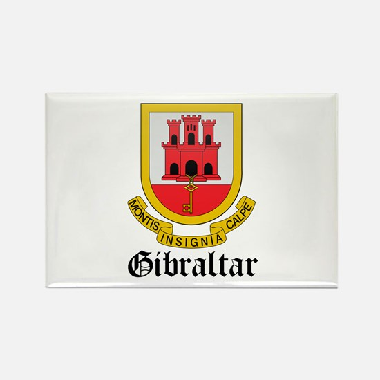 Gibraltarian Coat of Arms Sea Rectangle Magnet