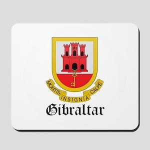 Gibraltarian Coat of Arms Sea Mousepad