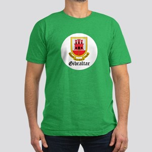 Gibraltarian Coat of Arms Sea Men's Fitted T-Shirt