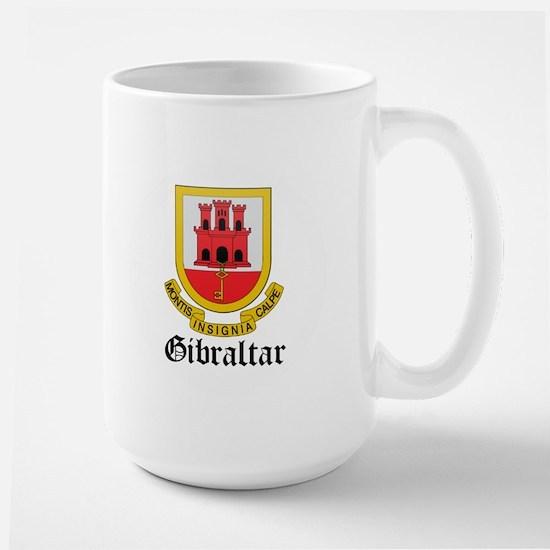 Gibraltarian Coat of Arms Sea Large Mug