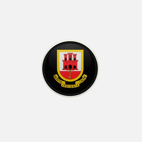 Coat of Arms of Gibraltar Mini Button