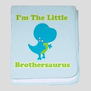 I'm The Little Brothersaurus baby blanket