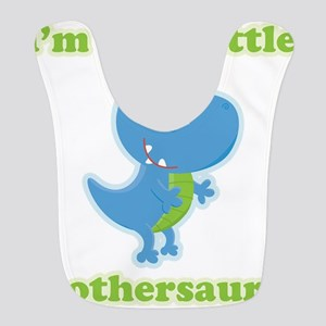 I'm The Little Brothersaurus Polyester Baby Bib