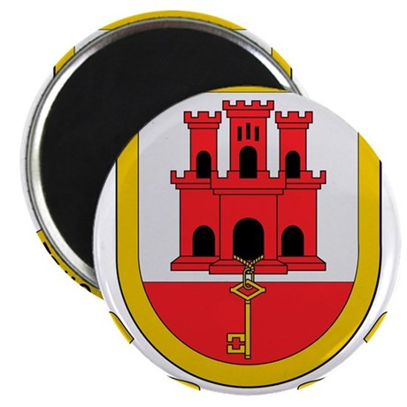 Gibraltar Coat of Arms Magnet