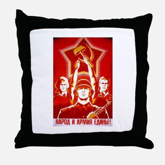 Funny Lenin Throw Pillow