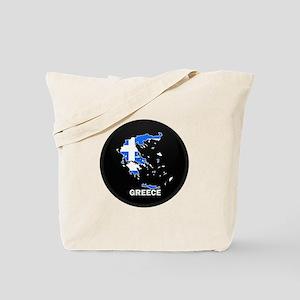 Flag Map of Greece Tote Bag