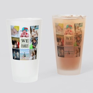 Custom Family Photo Collage Drinking Glass
