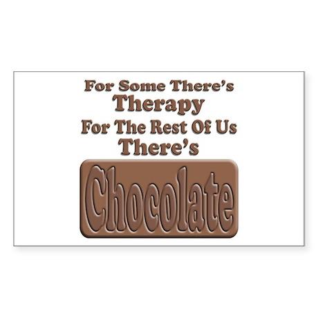 Chocolate Therapy Rectangular Sticker