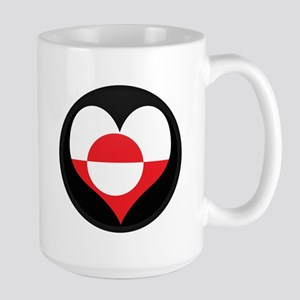 I love Greenland Flag Large Mug
