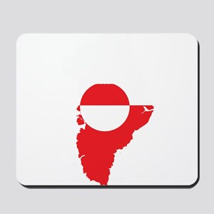 Greenland Flag Map Mousepad